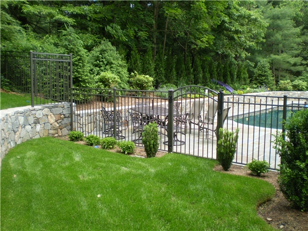 Bronze Aluminum Fence Wilton CT
