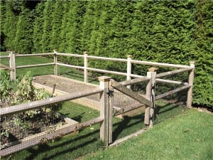 Diamond Railing - Garden Safety! Keeping the pests out