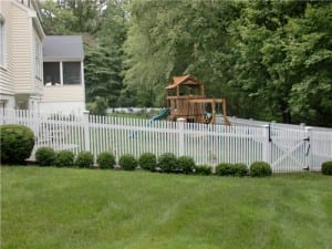 Picket fence for pool and playset