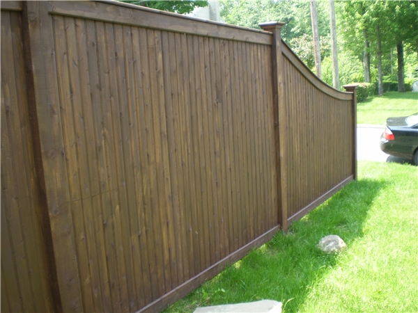 Residential Wood Privacy Fence in Danbury, Connecticut 2