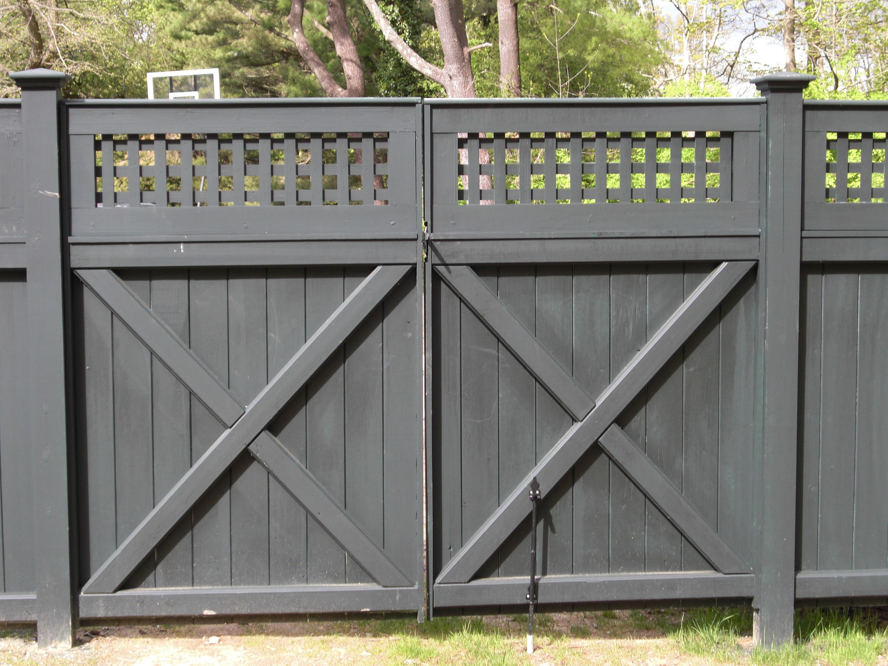 Solid Board W Decorative Topper Riverside Fence