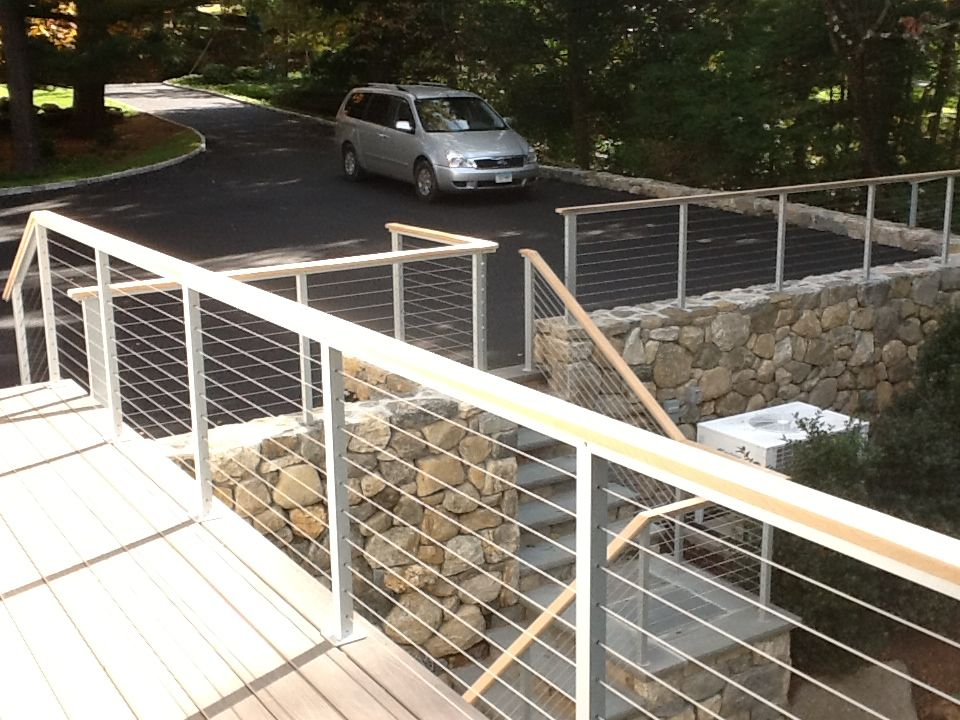 Low Profile Fence Cable Railing In Greenwich Ct