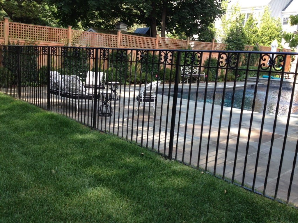 Wrought Iron Riverside Fence