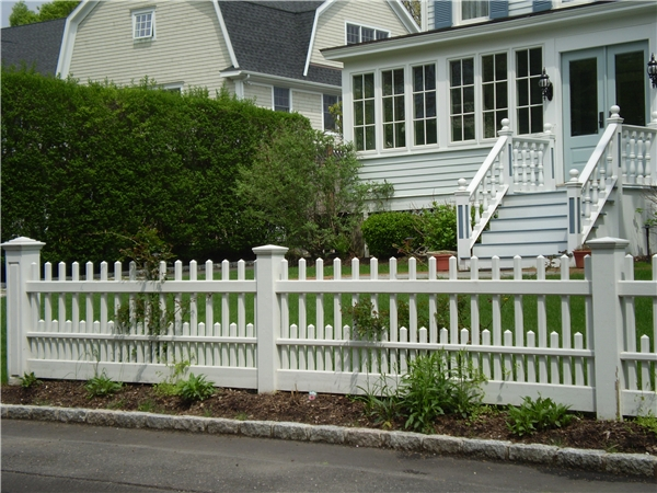 Riverside Fence 187 Residential Wood Staggered Ct Picket
